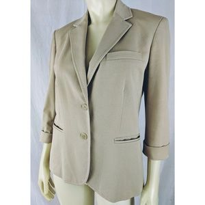 Ralph Lauren Blazer 8 Tan Cotton Blend Stretch New